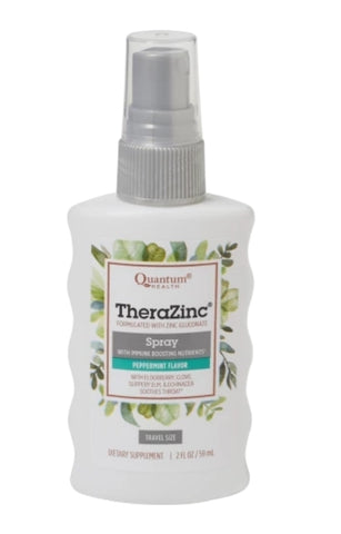 Quantum Health Thera Zinc Throat Spray peppermint flavour 2oz