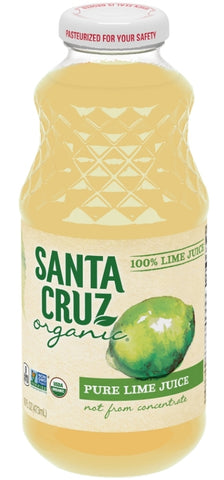 Santa Cruz 100% Pure Organic Lime Juice 16oz