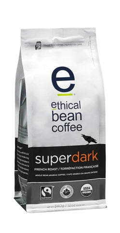 Ethical Bean Whole Bean Coffee Superdark French Roast 340g