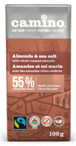 Camino Dark Chocolate Bar - Almond & Sea Salt