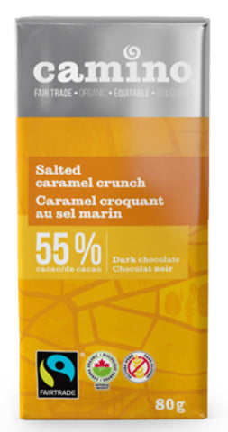 Camino Dark Chocolate Bar - Salted Caramel Crunch