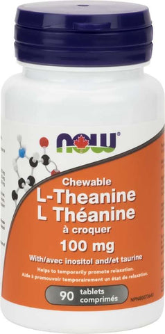 Now Chewable L-Theanine 100 mg
