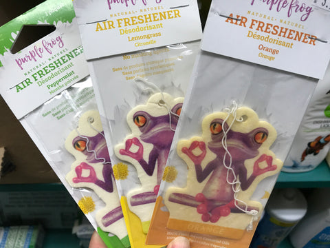 Purple Frog Air Freshener