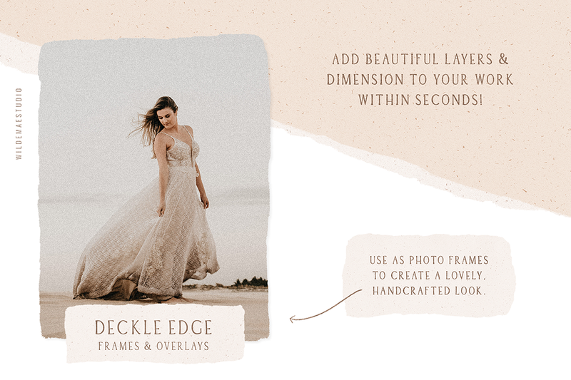 Deckle Edge Frames & Overlays Vol. I
