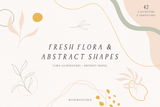 Fresh Flora & Abstract Shapes