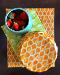 Beeswax Wraps ( Set of 3 - L,M,S )