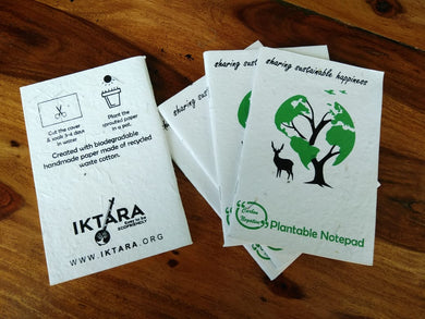 Iktara Seed Paper Notepads (Pack of 4)