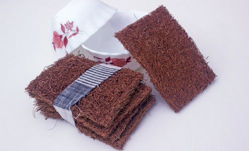 Coconut Scrubbers from 100% natural coco fibre bound by natural latex