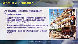 OSHA Construction: Scaffolding Safety - Training Network