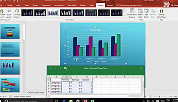 Microsoft PowerPoint 2016 Level 1.7: Adding Charts to Your Presentation - Training Network