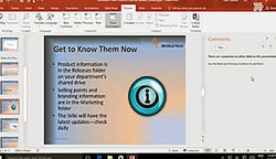 Microsoft PowerPoint 2016 Level 2.5: Collaborating on a Presentation - Training Network