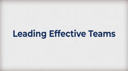 Leading Effective Teams: Becoming A Competent Leader