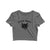 Black Magic Supply Grey Women's Crop Top