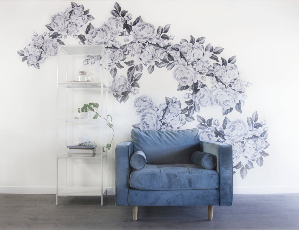 One Decal Two Ways — Greyscale Florals