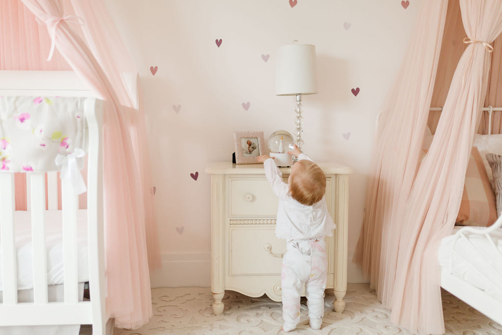 Room Tour: Mini Watercolor Ombre Hearts - in Blush