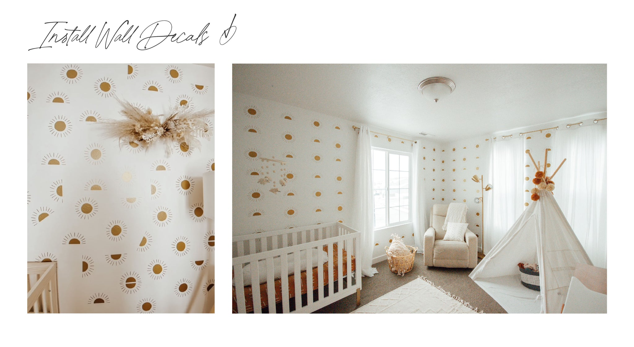 Room with sun wall decals