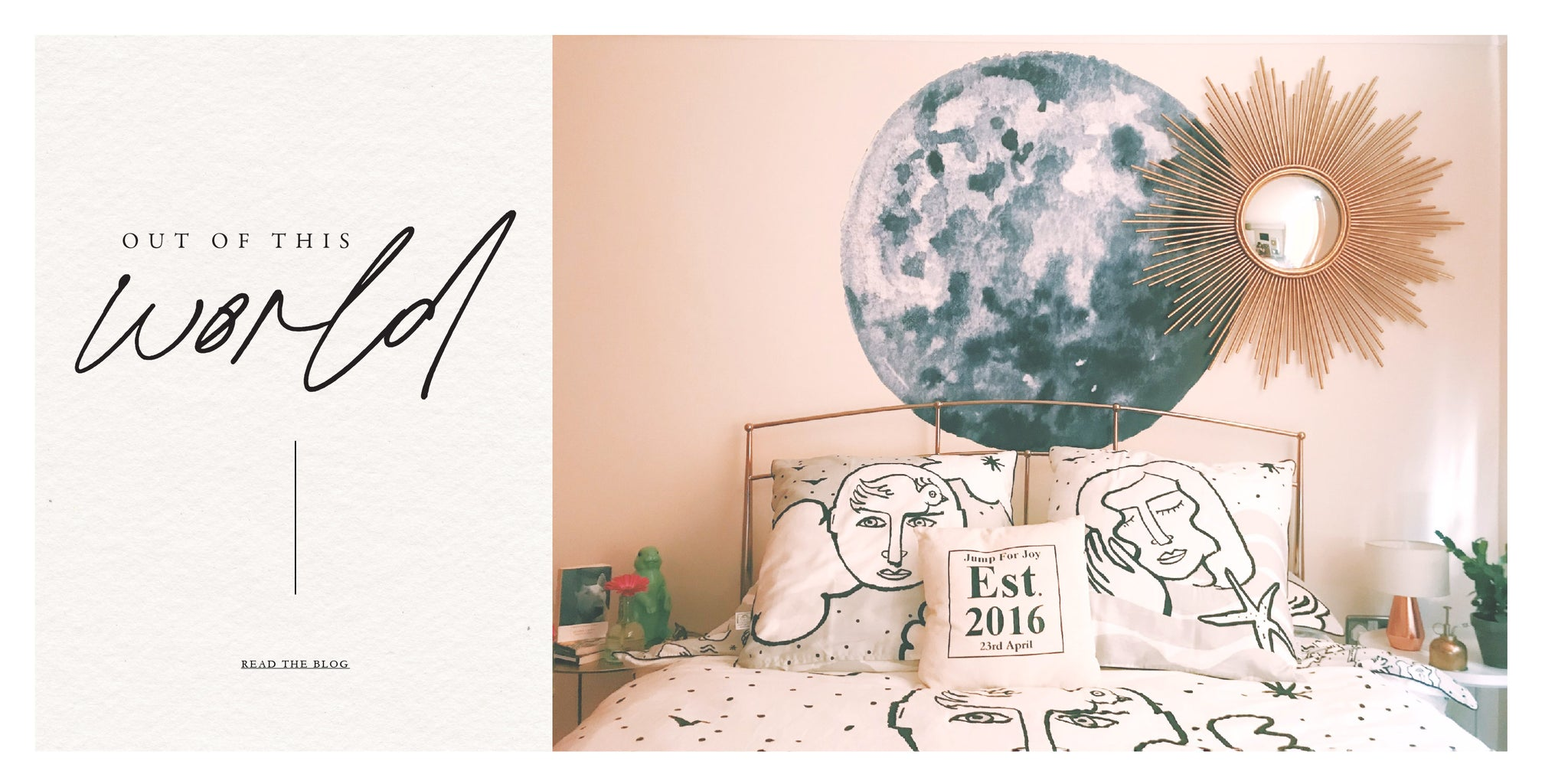 Celestial bodies wall decal
