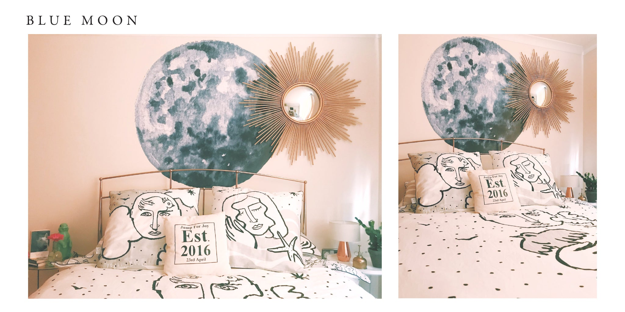 One blue moon wall decal