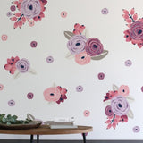 Pink and Violet Graphic Flowers