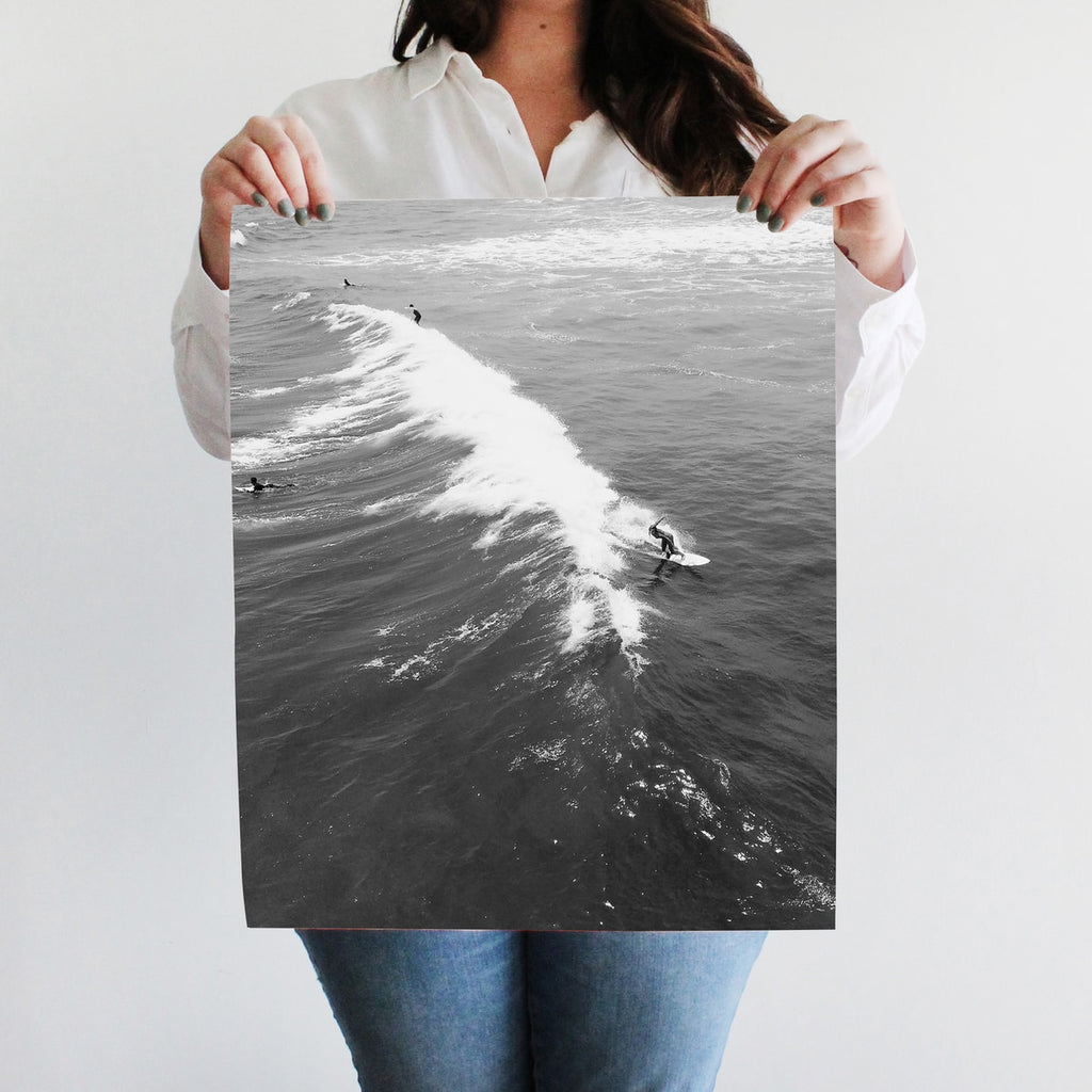Saltwater Black and White Wall Art Print