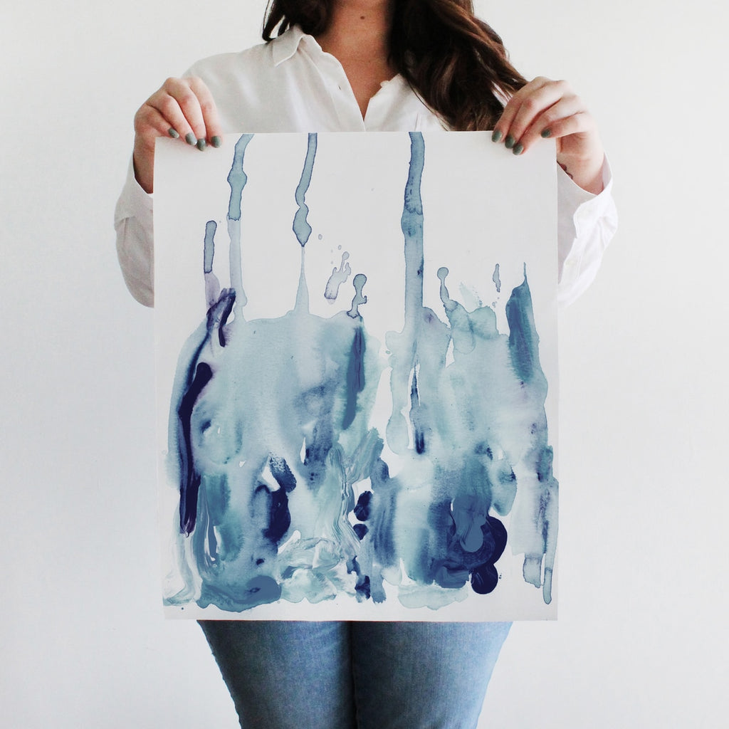 Drip Watercolor Wall Art Print