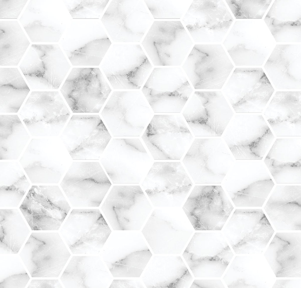 White Marble Hexagons