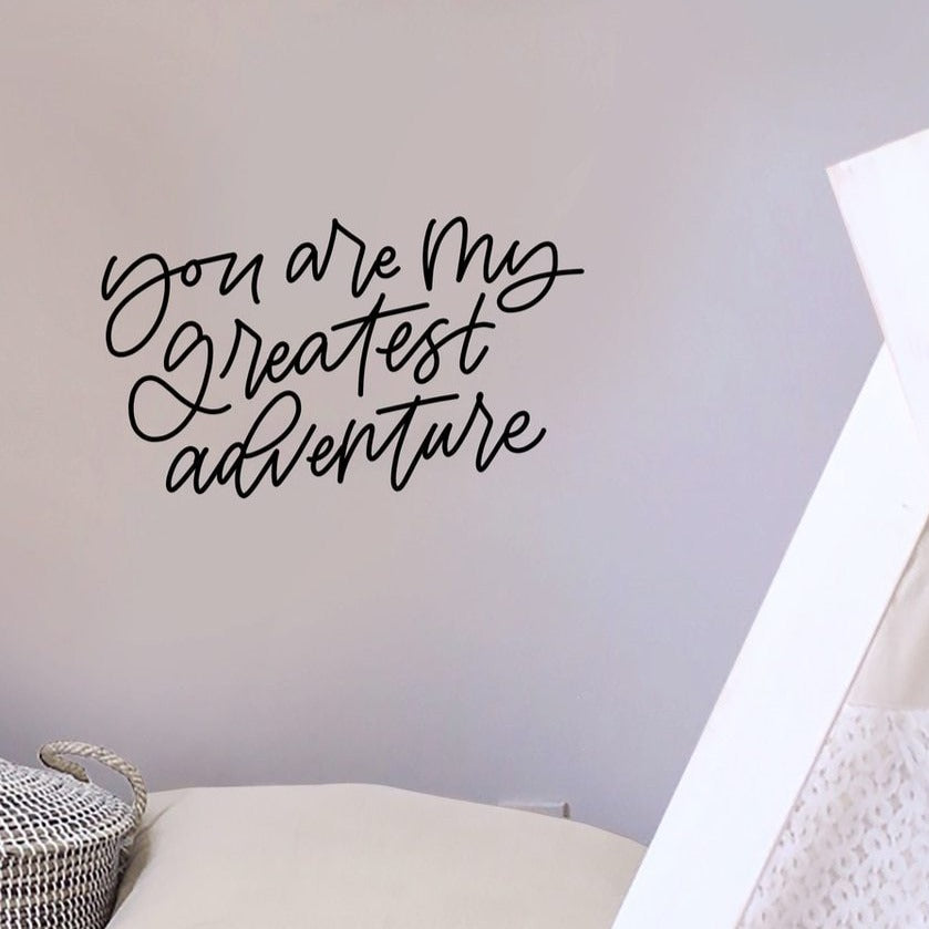 Greatest Adventure Calligraphy Decal