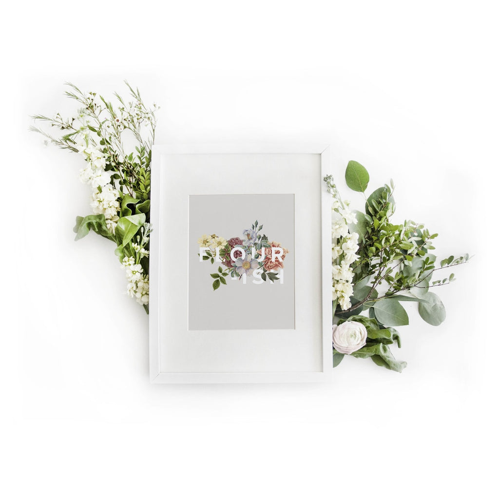 Flower Type Art Print