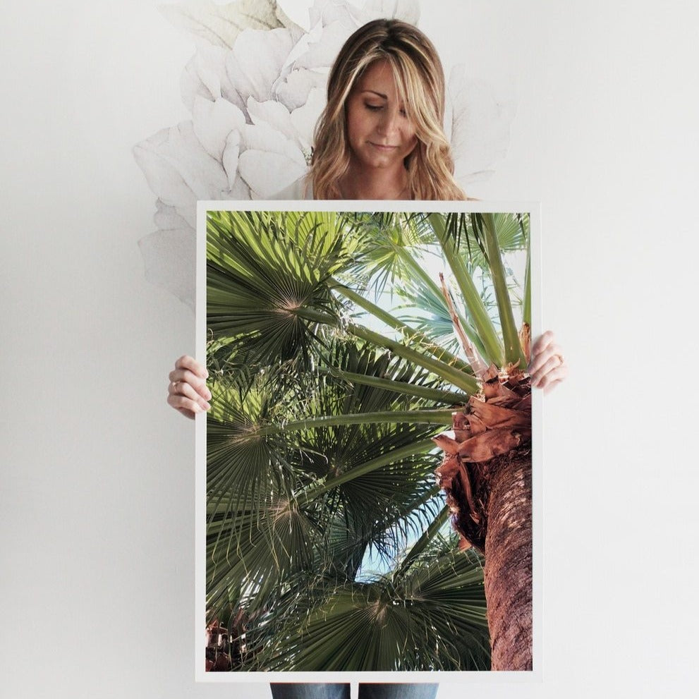 SEA SKY PALM Art Print