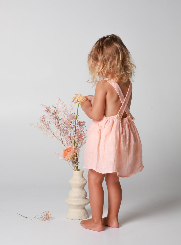 Evie Dress ~ Peach