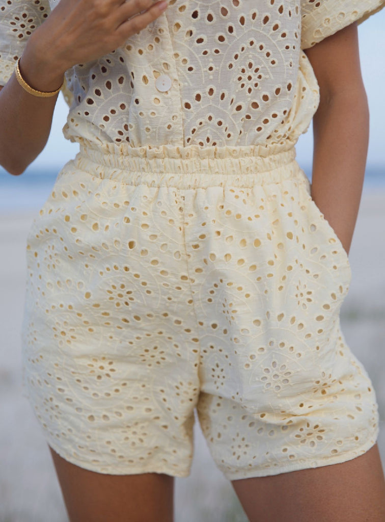 Pania Shorts ~ Baby Yellow