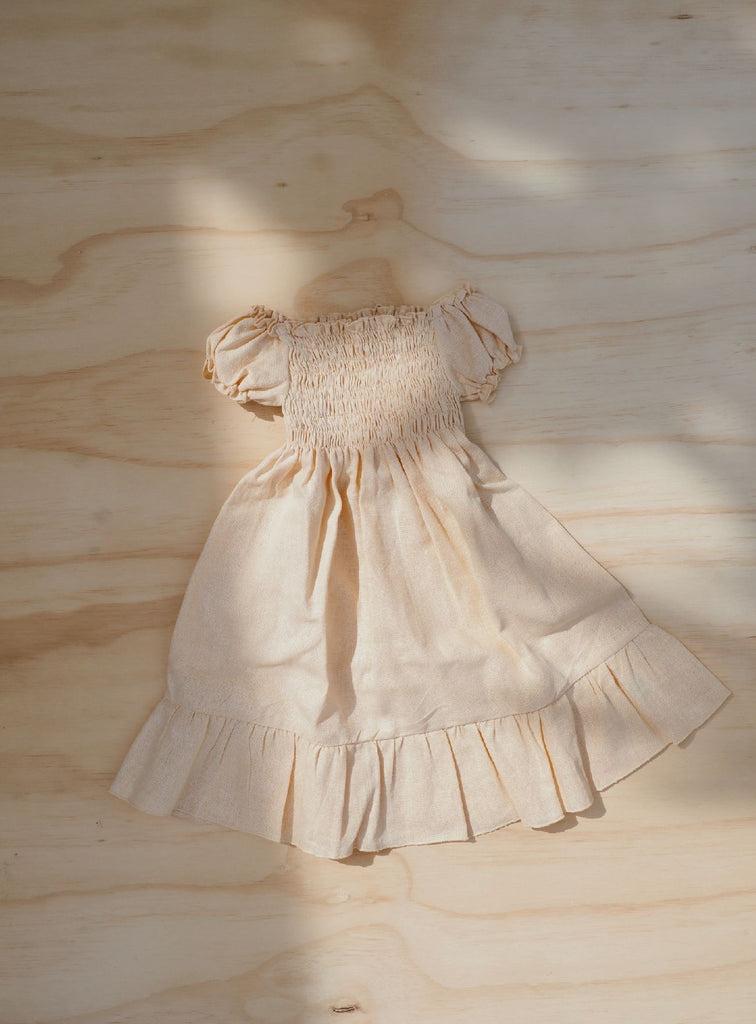 Lottie Linen Dress ~ Butter Yellow