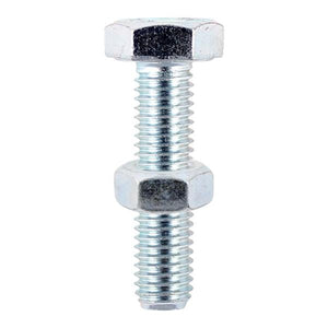 Timco Hex Head Bolts And Nuts 8 x 70mm 30 Pack