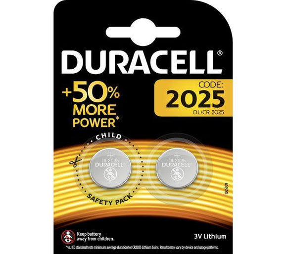 Duracell 2025 Coin Batteries (Twin Pack)