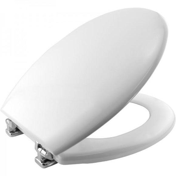 Bemis White Moulded Toilet Seat & Cover Chrome Hinge - Sheahan's Homevalue Hardware