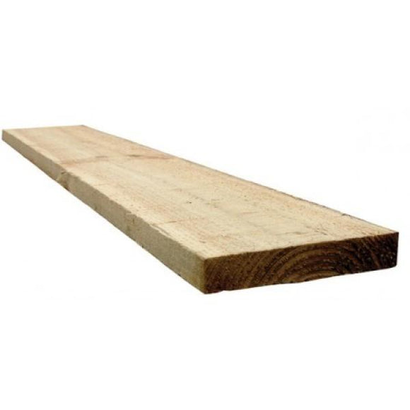 White Deal Rough Timber 100 x 22 mm
