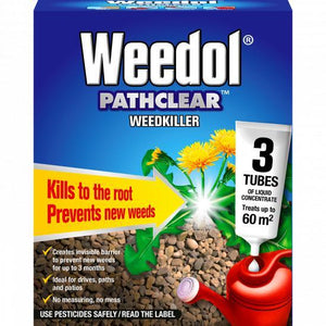 Weedol Pathclear Weedkiller 3 Tubes