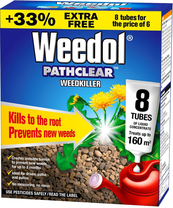 Weedol Pathclear Weedkiller 8 Tubes