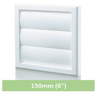 Vent White Flapped Louvre Cover