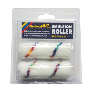 "Long Pile Fabric Replacement Roller Sleeves 4"" Pack Of 2"