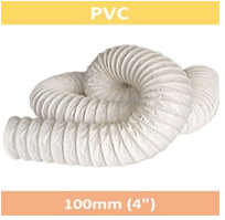 PVC Ventilation Hose 100mm X 15.24M