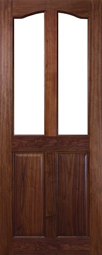NM2G Unglazed Walnut Door