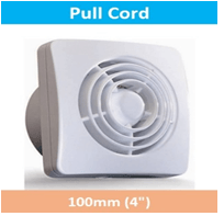 Pull Cord Wall Fan 100mm