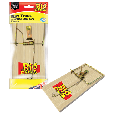 Big Cheese Wooden Rat Trap 2 Pack