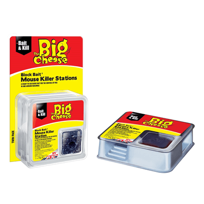Big Cheese All-Weather Block Bait Mouse Killer Station