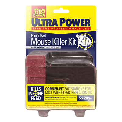 Big Cheese Ultra Power Block Bait Mouse Killer Kit