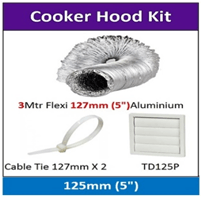 Cooker Hood Kit 125mm X 3M