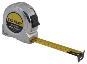 Stanley 26 Foot / 8 Metre Chrome Measuring Tape