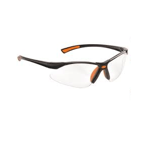 Portwest Safety Glasses Orange Temple Clear