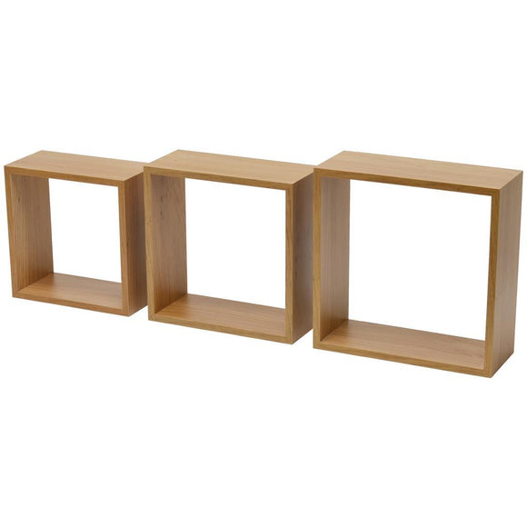 Duraline Triple Cube Shelves Oak